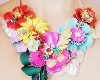 Color me happy -  OOAK Neckpiece - Ready to ship xx