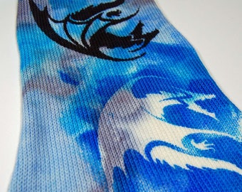"""Game of Thrones Inspired Sock Blank """"A Dragon is not a Slave"""" **Single Sock blank**DYED TO ORDER"""