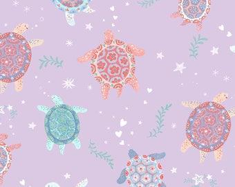 Mermaid Dreams by Studio E - Turtles on lavendar, yard