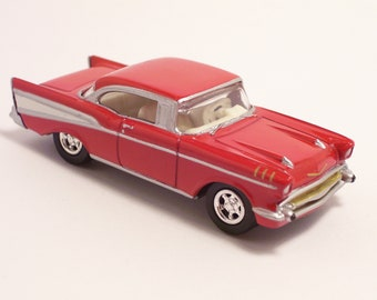 Delicieux 1957 Chevrolet Bel Air   Vintage Die Cast Car, 1/64th Scale By Johnny