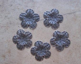 Filigree Beads, Metal Beads, Beads for Enameling, filigree, enameling supplies, enameling, jewelry supplies, filigree,