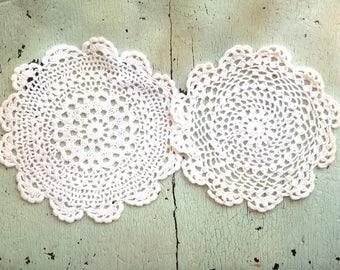 Crocheted Doily Pair