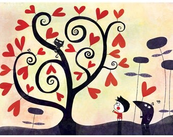 Shows the small tree of hearts A126