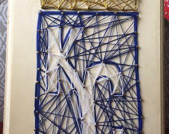 MLB Kansas City Royals Logo Wooden Plaque - String Art