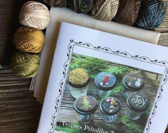 Valdani Thread Kit Wool Paper Pattern Jar Topper Ornaments Punch Needle