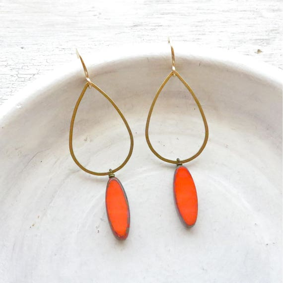 Bridesmaid Earrings > Balance Earrings > Coral