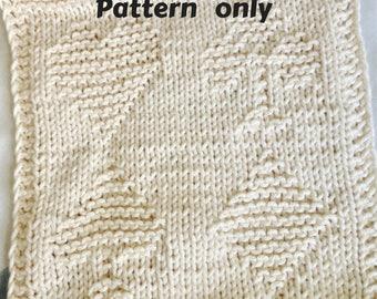 PATTERN - dishcloth / washcloth knitting pattern - Playing cards