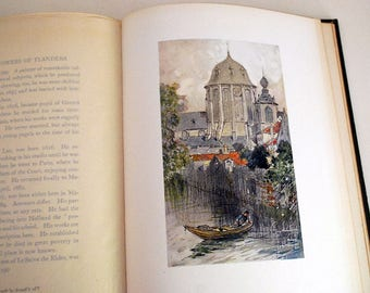 Belgian Architecture Book, Vanished Towers and Chimes of Flanders, 1st Edition 1916, Antique Illustrated Art Book, George Wharton Edwards