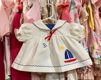 Sailor Dress 6/9 Months