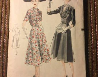 Vintage Vogue 1951 Dress Pattern