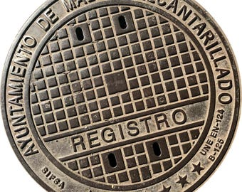 DOORMAT - Madrid Sewer Cover  - Original Photography