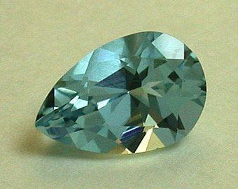 VINTAGE AQUAMARINE Blue Faceted Gemstone pearshape 1.11 cts fg101 pkg 1