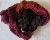 Handpainted Yarn-Soft Rayon Boucle Sport Wt. - 375 yds - CRAZY HORSE