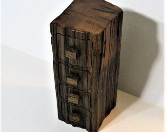 Treasure Box Made From Antique Recycled Redwood With A Secret Drawer