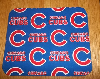 Chicago Cubs Mouse Pad, Mouse Pads, Desk Accessories, Baseball, MousePad, Rectangle, Mouse Mat, Office Decor, Handmade, Computer Accessories