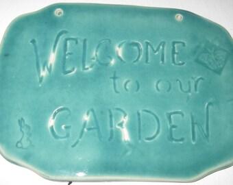 Ceramic Garden Welcome Tile