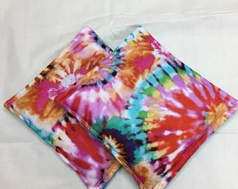 Tie Dye Print Potholders set of 2