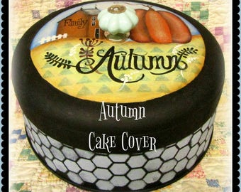 Apple Tree Cottage Original Design E Pattern - Autumn Cake Cover