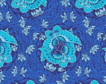 YARD - Amy Butler Fabric, Violette, Take Flight, Marine Blue, Aqua, cotton quilting fabric -  SALE