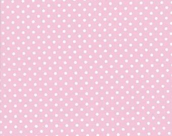 FAT QUARTER - Tanya Whelan Fabric, Delilah, Pink Dots, White, Polka Dots, cotton quilting fabric