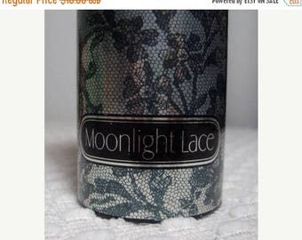 Solar Clearance Vintage Avon 80s Moonlight Lace Collectible Display Shimmering Perfumed Talc Powder
