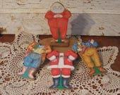 Vintage Dress up Santa with 3 Outfits Santa Claus Santa Paper Doll