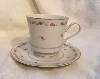 Mikasa Tea Coffee Cup and Saucer Fine China Vassar Rose #L2820 Cathy Hardwick