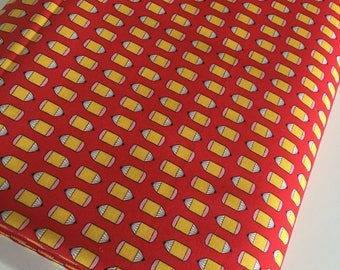 Suzie's Minis fabric, Popsicle Fabric, Cute Face, Kids Children's Decor, Quilting fabric, Small Print, Pencils in Red, Choose the cut