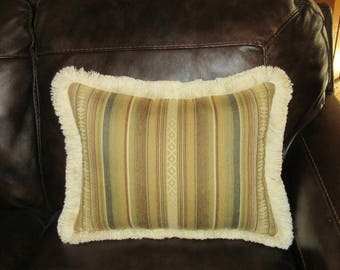 Southwest Decorator Pillow Soft Comfy Upholstery Fabric Fringed Throw Pillow Bedding