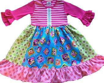 LaLaLoopsy, Lala loopsy, birthday party, girls toddler dress Momi boutique custom dress