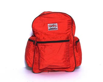 RUCKSACK red nylon 70s 80s Pacific Sport BACKPACK unisex camping