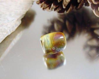 Handmade lampwork glass dreadlock bead, Artisan glass beads, dread beads, glass dreadlock beads, matte glass beads, glass hair beads, SRA