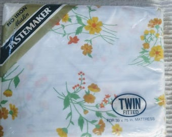 Vintage twin fitted sheet still in package