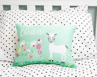 Girls Deer Personalised Cushion