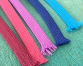 """3/8"""" Polyester Flatring tape / Hoodie ties / Hoodie drawstring / 50 colours / sold by the yard / Shoelaces / outdoor macrame cord"""