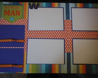 2 Our Little Boy  12x12 Premade Scrapbook Pages for your family