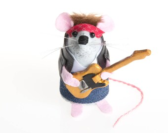 NEW Bruce Springsteen Mouse - LIMITED EDITION Rock and Roll Country Music inspired collectable Music art rat artists mice felt mouse