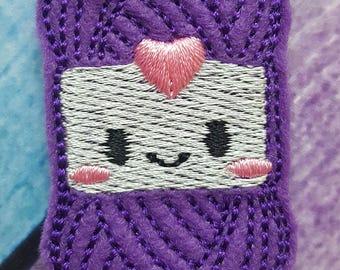 Yarn Feltie, Purple Yarn Feltie, Felt Embellishments, Felt Applique, Hair Bow Supplies