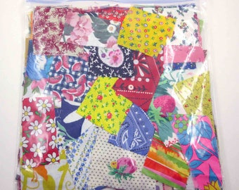 Huge Bag of Assorted Fabric Scraps Pieces or Material Lot D