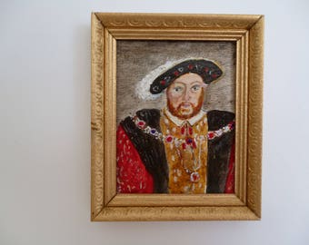 King Henry VIII, Miniature acrylic painting, one 12th scale