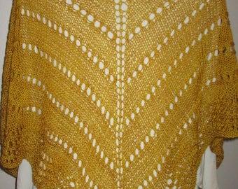 Golden Threads Eyeleted Shawl