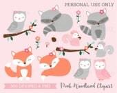 Pink Woodland Forest Anim...