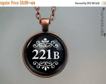 ON SALE - Baker Street : Glass Dome Necklace, Pendant or Keychain Key Ring. Gift Present metal round art photo jewelry by HomeStudio