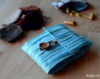 Interchangeable Knitting Needle case  holder organizer ready to ship ready to gift robin's egg blue case for addi knitting needles