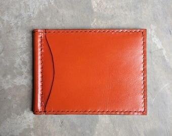 Money clip wallet,card sleeve in orange colour