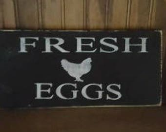 Fresh Eggs w/Rooster Sign
