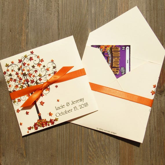 Fall wedding favors wedding favors for fall lottery ticket il570xn junglespirit Gallery