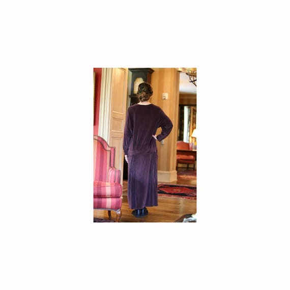 Angelheart Designs Engelhart Valiant Velour Collection 1995 Courtly Clad Dress -P/XS- Eggplant Cotton Velour