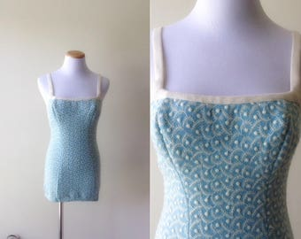 Catalina Knit Bathing Suit   1950s