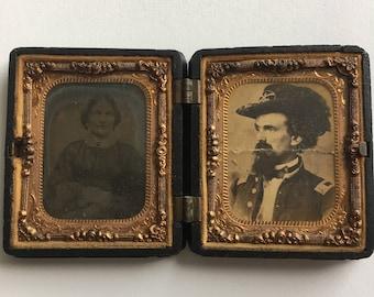 Civil War Ambrotype of Couple